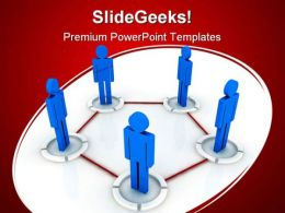 Networking Communication PowerPoint Templates And PowerPoint Backgrounds 0411