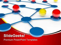 Networking Communication PowerPoint Templates And PowerPoint Backgrounds 0611