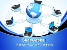 Networking Global PowerPoint Templates And PowerPoint Backgrounds 0711
