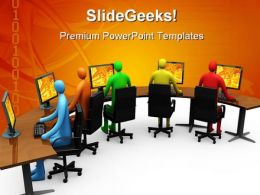 Networking Internet PowerPoint Backgrounds And Templates 1210