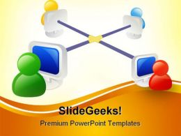 Networking Internet PowerPoint Template 1010