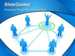 Networking Leadership PowerPoint Templates And PowerPoint Backgrounds 0511