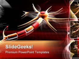 Neuron Science PowerPoint Backgrounds And Templates 1210