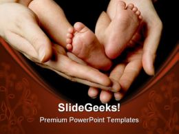 New Born01 Baby PowerPoint Template 0810