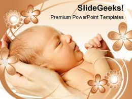 New Born Baby Family PowerPoint Backgrounds And Templates 1210