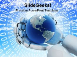 New Technologies Globe PowerPoint Templates And PowerPoint Backgrounds 0311