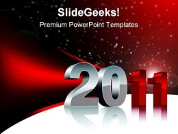 New Year 2011 Festival PowerPoint Background And Template 1210