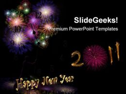 New Year 2011 Festival PowerPoint Templates And PowerPoint Backgrounds 0711