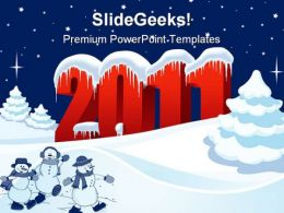 New Year 2011 Holidays PowerPoint Template 1010