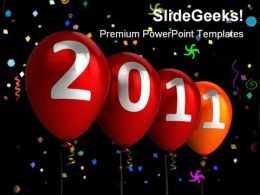 New Year Balloons Celebration PowerPoint Template 1110