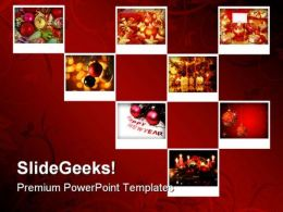 New Year Collage Holidays PowerPoint Template 1010