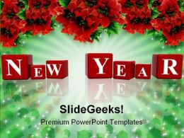 New Year Decorations Events PowerPoint Templates And PowerPoint Backgrounds 0711