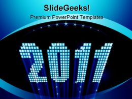 New Year Holidays PowerPoint Template 1010