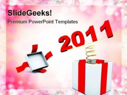 New Year Present Holidays PowerPoint Templates And PowerPoint Backgrounds 0511