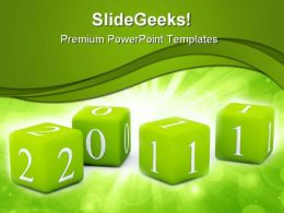 New Year Toys 2011 Holidays PowerPoint Templates And PowerPoint Backgrounds 0411