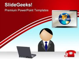 News Reporter Media PowerPoint Templates And PowerPoint Backgrounds 0511