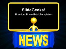 News Reporter Media PowerPoint Templates And PowerPoint Backgrounds 0611