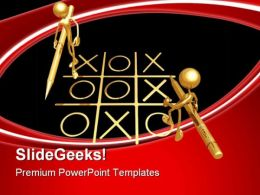 No Winners Game PowerPoint Templates And PowerPoint Backgrounds 0811