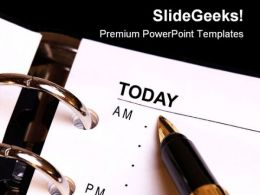 Notes For Today Business PowerPoint Templates And PowerPoint Backgrounds 0311