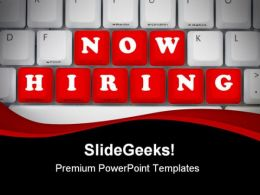 Now Hiring Computer PowerPoint Templates And PowerPoint Backgrounds 0411
