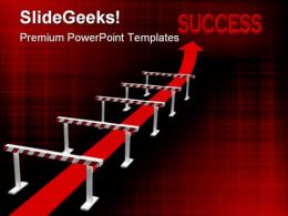 Obstacle01 Symbol PowerPoint Template 0910
