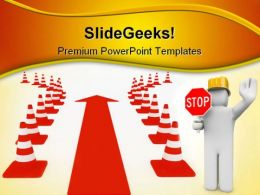 Obstacle Overcoming Success PowerPoint Templates And PowerPoint Backgrounds 0811