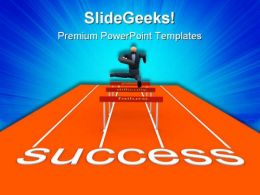 Obstacles Business Success PowerPoint Templates And PowerPoint Backgrounds 0711