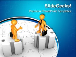 Obstacles In Agreement Business PowerPoint Templates And PowerPoint Backgrounds 0711