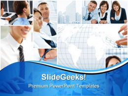 Office Collage Business PowerPoint Backgrounds And Templates 1210