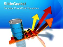 Oil Prices Rising Industrial PowerPoint Background And Template 1210
