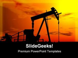 Oil Pump Machine Industrial PowerPoint Templates And PowerPoint Backgrounds 0611
