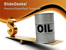 Oil Rising Dollar Industrial PowerPoint Background And Template 1210