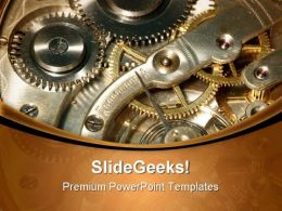 Old Clock Machine Industrial PowerPoint Templates And PowerPoint Backgrounds 0611