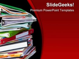 Old Files Business PowerPoint Backgrounds And Templates 1210