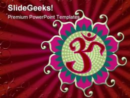 Om Religion PowerPoint Template 0610