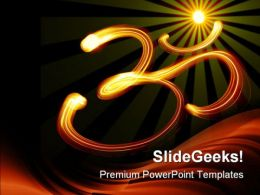 Om Symbol Religion PowerPoint Templates And PowerPoint Backgrounds 0411