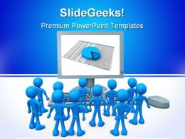 On Screen Presentation Business PowerPoint Templates And PowerPoint Backgrounds 0811