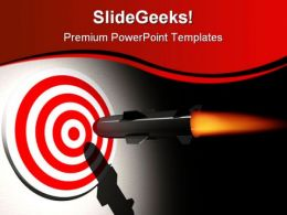 On Target Business PowerPoint Templates And PowerPoint Backgrounds 0711