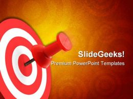 On Targeted Concept Business PowerPoint Templates And PowerPoint Backgrounds 0811