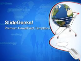 Online Global Shopping Internet PowerPoint Templates And PowerPoint Backgrounds 0911