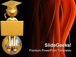 Online Graduate Concept Education PowerPoint Templates And PowerPoint Backgrounds 0611