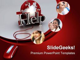 Online Help Internet PowerPoint Templates And PowerPoint Backgrounds 0811