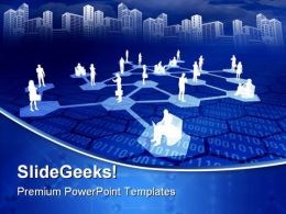 Online Network Communication PowerPoint Templates And PowerPoint Backgrounds 0811