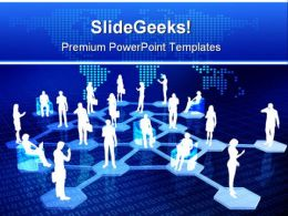 Online Network Community Global PowerPoint Templates And PowerPoint Backgrounds 0711