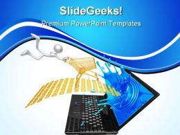 Online Shopping Internet PowerPoint Templates And PowerPoint Backgrounds 0711