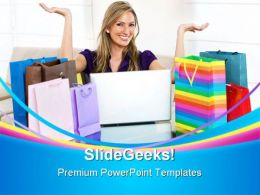 Online Shopping Sales PowerPoint Templates And PowerPoint Backgrounds 0311