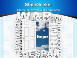 Open The Doorway To Hope Business PowerPoint Template 0910
