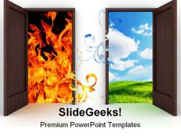 Opened Door Nature PowerPoint Template 0810  Presentation Themes and Graphics Slide01