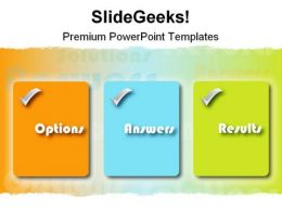 Option Answers Results Business PowerPoint Template 0910