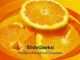 Orange Food PowerPoint Template 0810